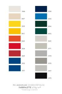 Farbkarte PVC 670g/m²