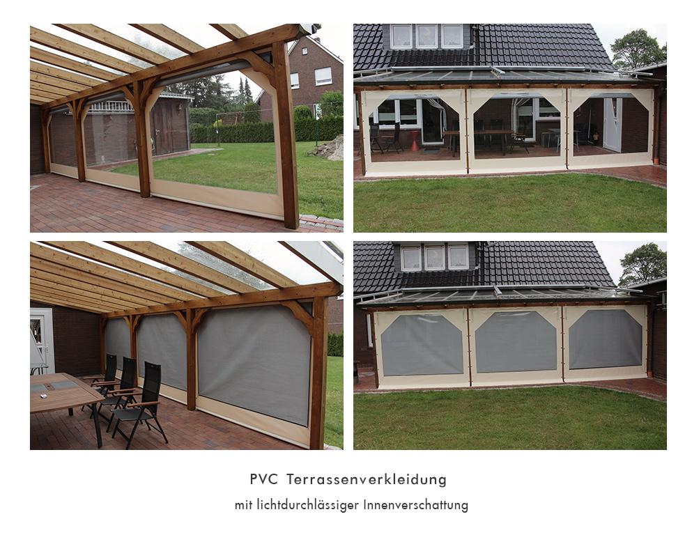 Pvc Terrassenverkleidung Mit Lichtdurchl Ssiger