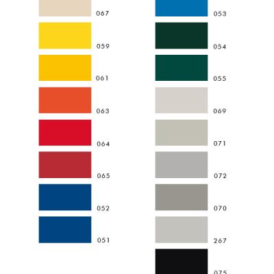 Vielfältiges Angebot: Wir können ein breites Spektrum an Farben bedienen
