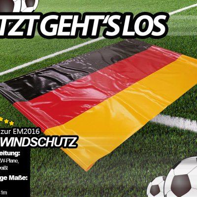 Fan-Windschutz aus PVC zur EM 2016